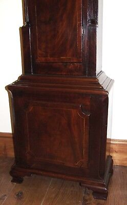 Antique 8 Day Georgian Inlaid Mahogany Longcase Clock ALEX GORDON DUBLIN 9