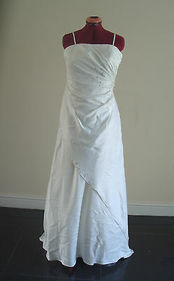 1 sur 10Seulement 1 disponible NICHOLAS MILLINGTON Sunray Satin Wedding  Dress Size 12 (DEFECT) e06d9a2d0