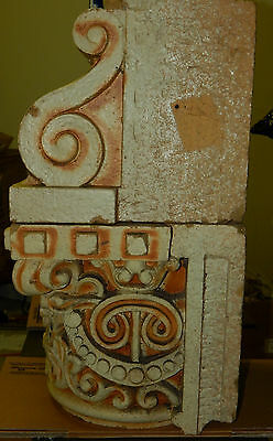 Antique Clay Fired Architectural Capitols, Heavy Glaze, Historical Building 3
