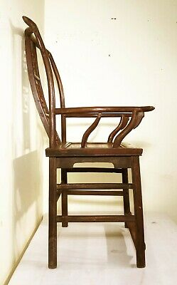 Antique Chinese High Back Arm Chairs (2991) (Pair), Circa 1800-1849 7