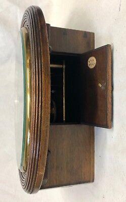 National Provincial Bank CHAIN Fusee Mahogany Wall Clock SIR JOHN BENNETT LONDON 8