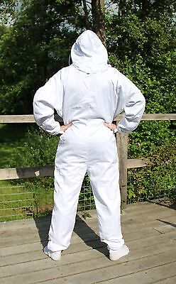 White Beekeepers Bee Suit with Fencing Veil - All Sizes 3