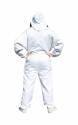 White Apiary Additions Beekeeping Bee Suit with Fencing Veil - All Sizes 3