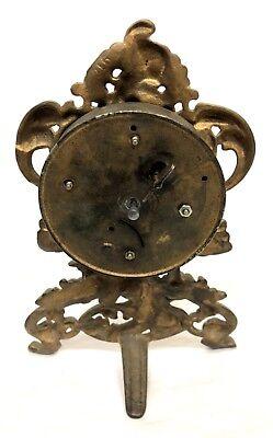 Antique Cherub Strut Easel Cherub Mantel Bracket Clock 8