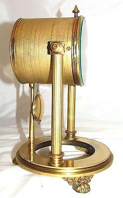 French Antique VINCENTI & CIE Drum Head Brass Striking Bracket Mantel Clock 8