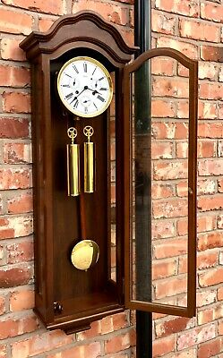 GERMAN Hermle Laterndluhr Vienna Wall Clock 3 Subsidiary Dials DAY DATE MONTH 10