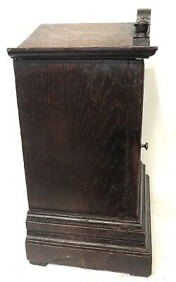 WINTERHALDER HOFFMEIER W & H Antique Oak Bracket Mantel Clock SERVICED 8