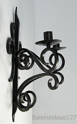 Old French Provence Wrought Iron Gothic Medieval Sconce Castle Candleholder 9