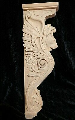 "25"" Lion Corbel, Wooden Corbel, Rustic Corbel, Fireplace Surround, lion art 2"