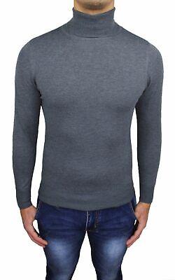 maglia maglioncino maglione a dolcevita da uomo collo alto gola lupetto slim fit 7