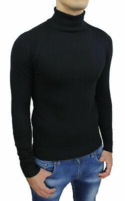 maglia maglioncino maglione a dolcevita da uomo collo alto gola lupetto slim fit 6