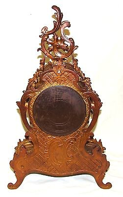 French Antique Louis XV Style Ormolu Bronze Mantel Bracket Clock c1880 10