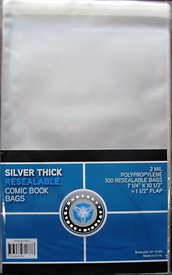 """200 CSP COLLECT*SAVE*PROTECT 7.25"""" Comic RESEALABLE Bags AND Silver 7"""" Boards 2"""