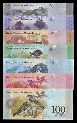 B-D-M Venezuela 500 1000 2000 5000 10000 20000 100000 Bolívares 2016-2017 SC UNC 2