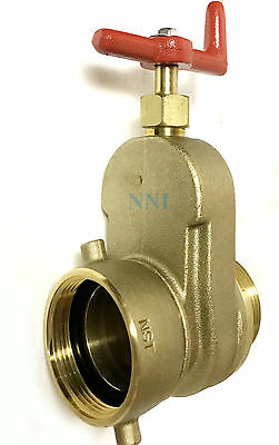 """2-1/2"""" HYDRANT GATE VALVE Female Swivel NST x  Male NST Rated 175 PSI Water"""