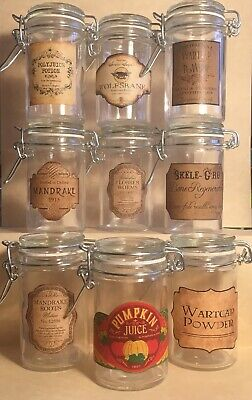 LABELS ONLY Halloween Apothecary Potion Bottle Harry Potter Party Prop Favor Jar 2