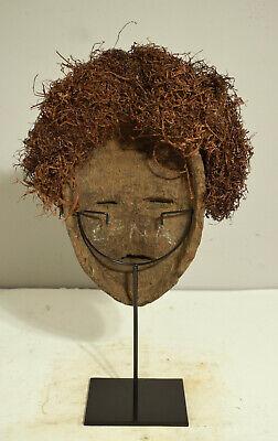 African Mask Lega Bwami Society Congo Prestige Male Female Wood Raffia Lega 4