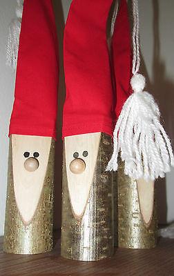 Weihnachtsmann Wichtel Aus Holz Handarbeit 3 Stück Weihnachten Eur