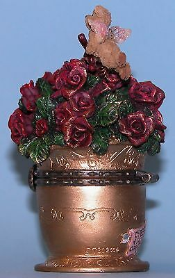 "Boyds Bears /""Cupid/'s Boquet/"" flowers mouse 82060 box love romance Valentine NIB"