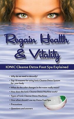 Ionic Ion Detox Foot spa Chi Bath Cleanse Unit for Home Use With Free Foot Basin