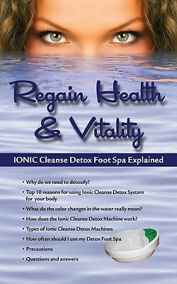 Ionic Detox Ion Foot Spa Aqua Chi Unit for Home Use comes with Foot Basin
