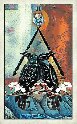 Crow Tarot Deck /& Guidebook By Wicca MJ Cullinane Psychic Readings Readings