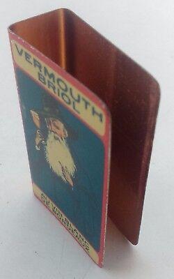 protège boîte allumettes Vermouth Briol en métal lithographié 3