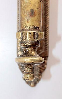 Antique Old Indian Brass Floral Carving Door Handle Door Knob Rich Patina 5