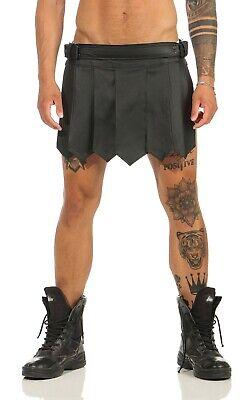 XS-XXXL*  Echt Leder Gladiator Skirt Kilt Rock Schwarz Neu Schnallen leder-joe 5