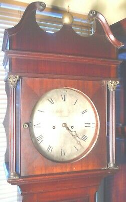 "Antique   Mahogany  ""  Wotton ""  8 Day   Grandfather / Longcase Clock 5"