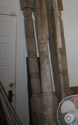 Victorian wood  Column turned Post porch Vintage 7