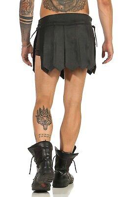 Gladiator Kilt Skirt Echt Leder Legionär Rock Schwarz Mittelalter Typ A XS-XXXL 5