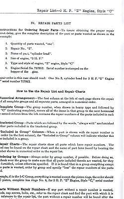Fairbanks Morse type Z C Gas Engine Motor Manual Book 2737A Spark Plug Hit Miss 3