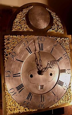 """Antique Mahogany Brass Dial """"Month Duration """" Longcase / Grandfather Clock 5"""