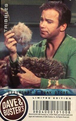 Star Trek Original Series (TOS) Coin Pusher Single Cards Tribbles, Dave & Buster 2