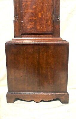 Antique Rolling Moon Phase Oak Mahogany Longcase Grandfather Clock HAYES WREXHAM 10