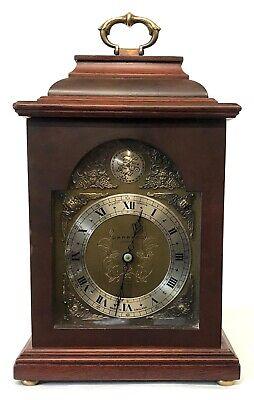 Lovely Elliott London Garrard Mantel Bracket Clock With Brass Dial 2