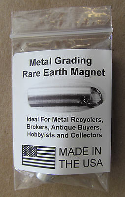 Antique & Jewelry Tester Magnet Keychain Test Brass, Gold, Silver KM02 6 lb 7