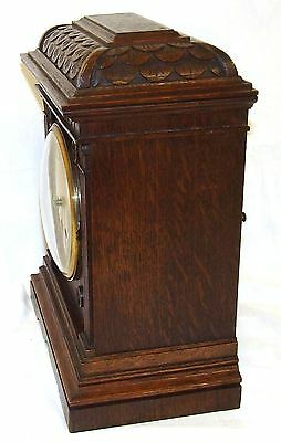 Antique LENZKIRCH Carved Oak Bracket Clock : CLEANED AND SERVICED 7