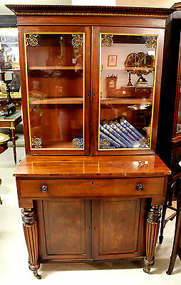 A Georgian Glazed Top Bookcase Of Unusual Form 3