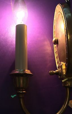 5 petite European design antique sconces Gold and copper tone 5