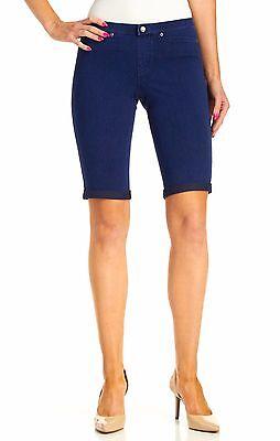 071c06eb508ca9 ... HUE Blue Ink Wash Super Smooth Stretch Denim Boyfriend Shorts- msrp $34  5