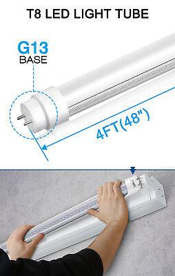 10-100 PACK LED G13 4FT 4 Foot T8 Tube Light Bulbs 18W 6000K CLEAR OR MILKY LENS 8