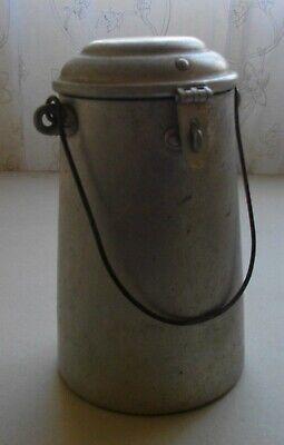 Antigua Lechera De 2 Litros Aluminio ( Con Pasador Y Asa) 26 X 13 Ctms 4