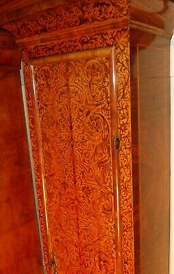 "Antique Walnut Marquetry London  ""Month Duration "" Longcase / Grandfather Clock 6"