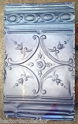 SALE Antique Victorian Ceiling Tin Tile Pie Cupboard Cabinet Doors Gothic Chic 2