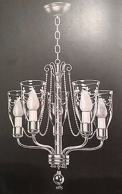 Vintage Lighting extraordinary 1940s chandelier by Lightolier 3
