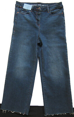 New Womens Blue Crop Ankle Wide Leg NEXT Jeans Size 16 14 12 10 6 RRP £28 4