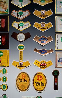 30 x verschiedene Etiketten WICKÜLER BIER + ANDERE um 1955-1968 7