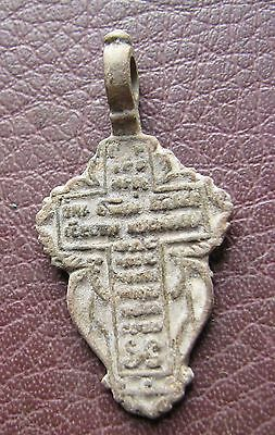 Antique Artifact > 18th-19th C Bronze Russian Orthodox Baptism Cross AA40-9 2